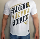 """T-shirt DM """"Motto2018"""" biały"""