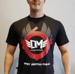 """T-shirt DM """"RING"""" czarny/czerwony"""