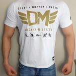 """T-shirt DM """"Moc Motywacji"""" biały"""