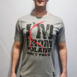 "T-shirt JP Popek ""Don`t Panic"" limited szary"
