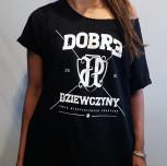 """T-shirt/Tunika JP """"Dobre Dziewczyny"""" czarna/biały"""